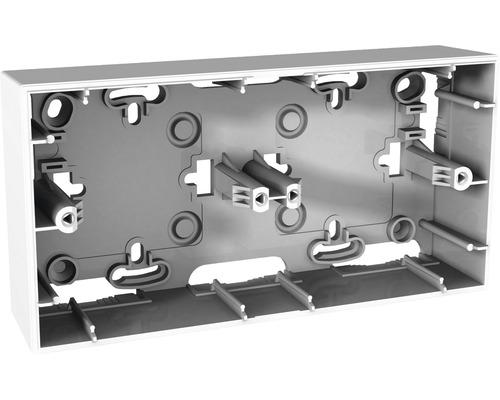 Dvojnásobná inštalačná krabica pre montáž na omietku Polar