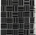 Sklenená mozaika čierna lesklá 29,8x29,8 cm