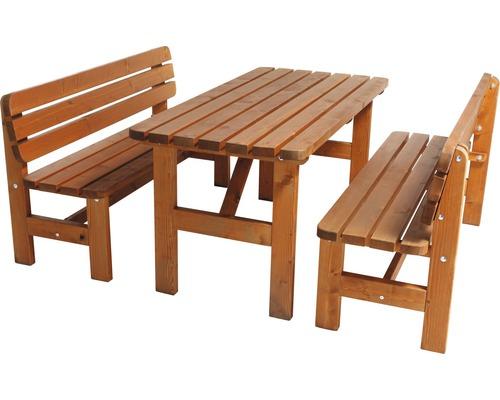 Záhradná zostava Wien II drevený stôl + 2 lavice