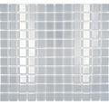 Sklenená mozaika CM 4021 svetlo šedá 30,5x32,5 cm