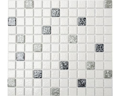 Keramická mozaika TD180 biela/čierna mix 30,2 x 33 cm