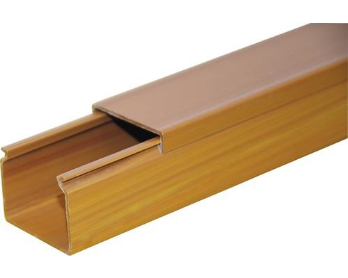 Lišta na káble svetlé drevo LV 15x10 mm, 2m
