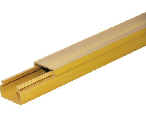 Lišta na káble svetlé drevo LV 18x13 mm, 2m