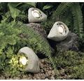 Záhradného svietidlo kameň, 3 ks