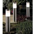 LED stĺpikové svietidlo 2W 90lm 3000K nerezová oceľ - set 3 ks