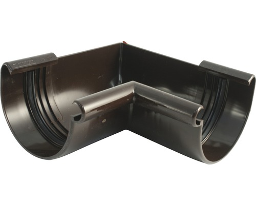 Vnútorný rohový diel odkvapu Marley plastový hnedý Ø 125 mm