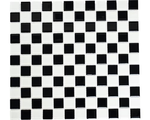 Sklenená mozaika CM 4148 šachovnica 30,5x32,5 cm