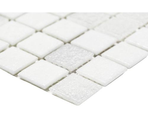 Sklenená mozaika A 112 mix biela 30,5x32,5 cm