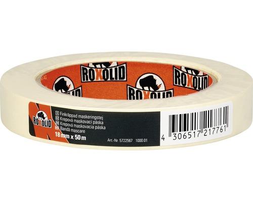 Krepová maskovacia páska ROXOLID 18 mm x 50 m