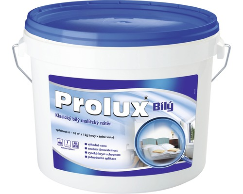 Biela farba na stenu Prolux Biely 3,5 kg