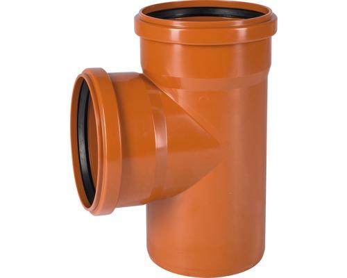 Jednoduchá odbočka pre kanalizačné rúry KG 87° Ø 125/125 mm