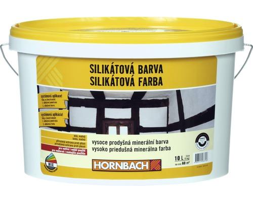 Biela farba na stenu Hornbach silikátová 10 l