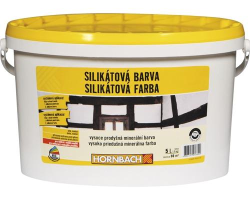 Biela farba na stenu Hornbach silikátová 5 l