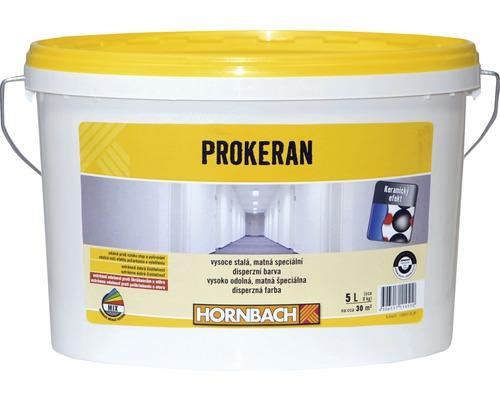 Biela farba na stenu Hornbach Prokeran extrémne odolná s keramickým efektom 5 l