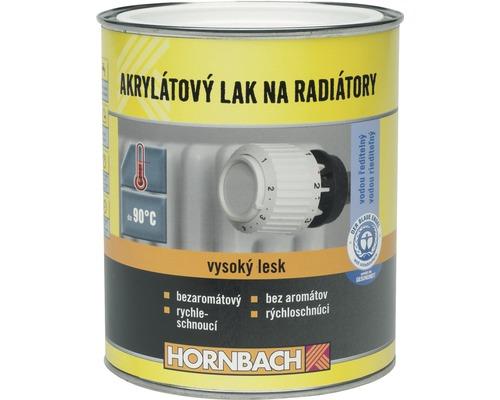 Akrylátový lak na radiátory Hornbach biely, lesklý 750 ml