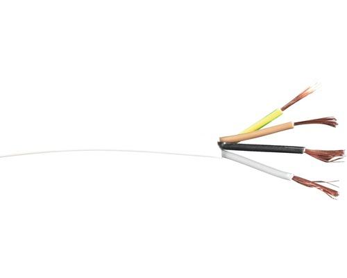 Silový kábel H03VVF CYSY 4 x 0,75 m , dĺžka 20m, biely