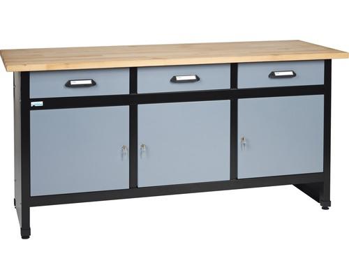 Pracovný stôl Küpper 1700x840x600 mm, 3 zásuvky