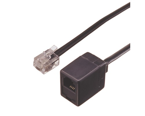 Predlžovací modulárny telefónny kábel RJ11 6m so zástrčkou