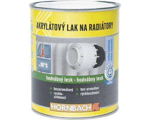 Akrylátový lak na radiátory Hornbach biely, hodvábny lesk 750 ml