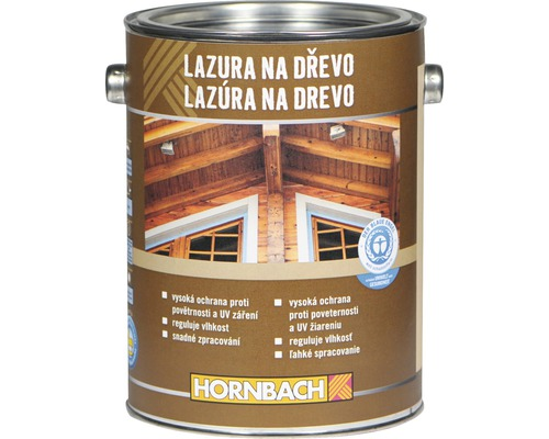 Univerzálna lazúra na drevo Hornbach, bezfarebná 2,5 l