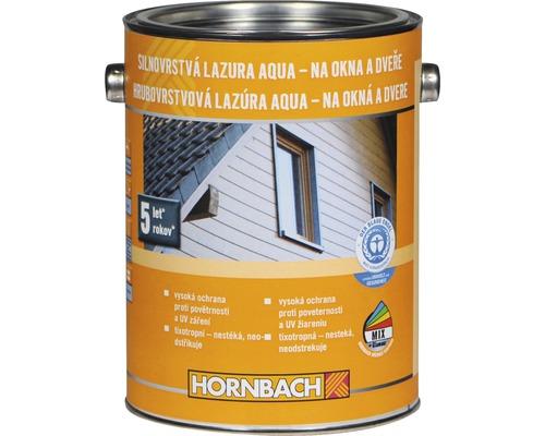 Hrubovrstvá lazúra na vodnej báze Hornbach, bezfarebná 2,5 l
