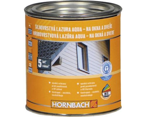 Hrubovrstvá lazúra na vodnej báze Hornbach, bezfarebná 375 ml