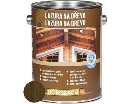 Univerzálna lazúra na drevo Hornbach, orech, 2,5 l