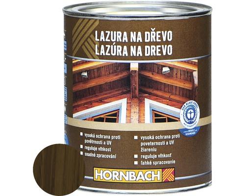 Univerzálna lazúra na drevo Hornbach, orech, 750 ml