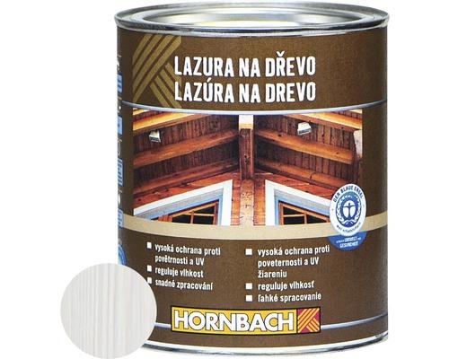 Univerzálna lazúra na drevo Hornbach, biela 750 ml
