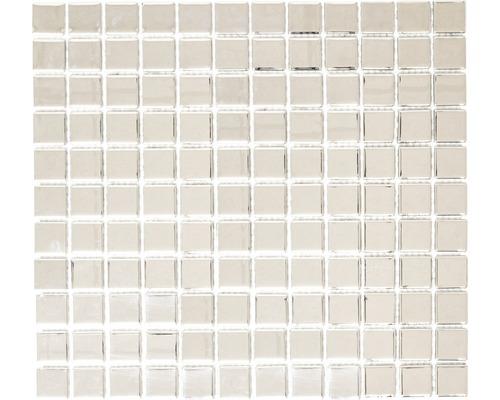 Sklenená mozaika CM 4S B2 mix strieborná 30,5x32,5 cm