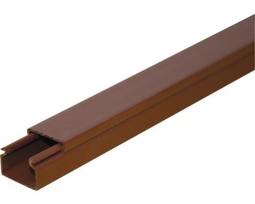 Lišta na káble hnedá 18x18 mm, 2m