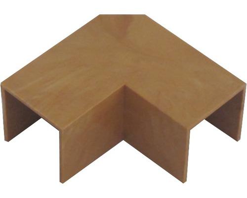 Ukončovací profil ohybový svetlé drevo 18x18 mm
