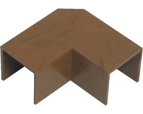 Ukončovací profil ohybový tmavé drevo 18x18 mm