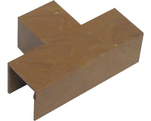 Ukončovací profil odbočný tmavé drevo 18x18 mm