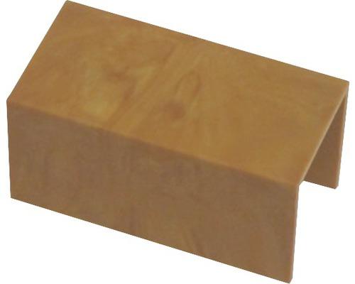 Ukončovací profil spojovací svetlé drevo 18x18 mm