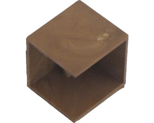 Ukončovací profil tmavé drevo 18x18mm