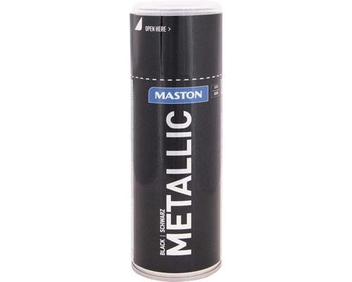 Farba v spreji Metallic Maston čierna metalíza 400 ml