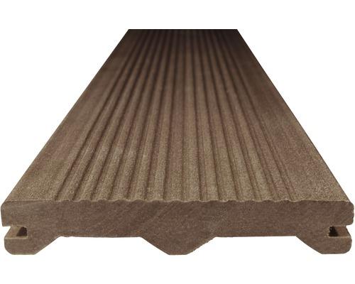 Terasová WPC doska Woodplastic Ambiente 23 x 137 x 2000 mm tmavo hnedá