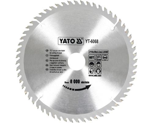 Kotúč na drevo Yato YT-6068, 210x30 mm 60z