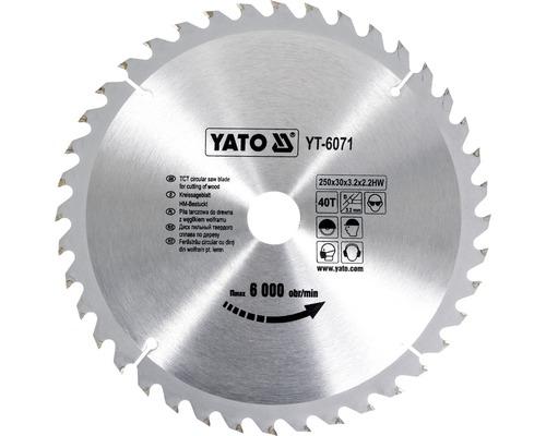 Kotúč na drevo Yato YT-6071, 250x30 mm 40z