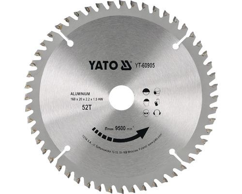 Kotúč na hliník Yato YT-60905, 160x20 mm 52z