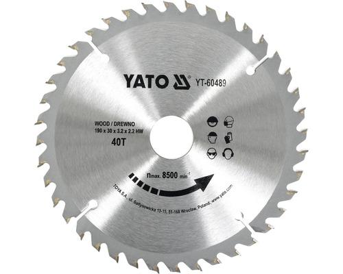 Kotúč na drevo Yato YT-60489, 190x30 mm 40z