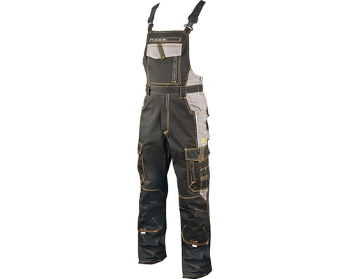 Pracovné nohavice-montérky na traky Ardon VISION čierno-sivé, veľkosť 48
