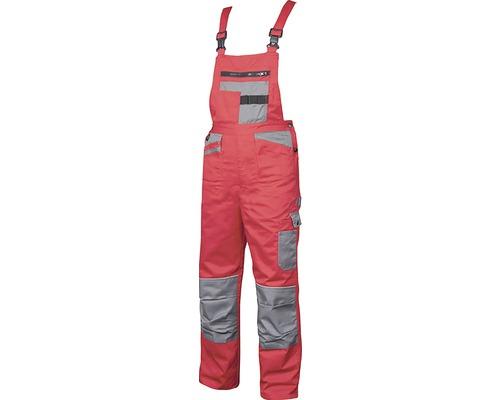 Pracovné nohavice na traky Ardon 2STRONG červeno-sivé, veľkosť 54