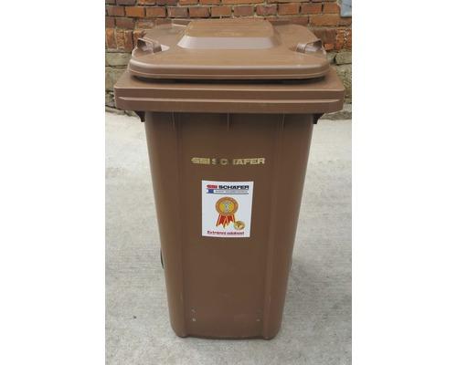 Popolnica na bioodpad 240 l CTL plastová hnedá