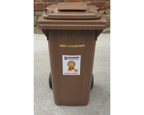 Popolnica na bioodpad 120 l CTL plastová hnedá