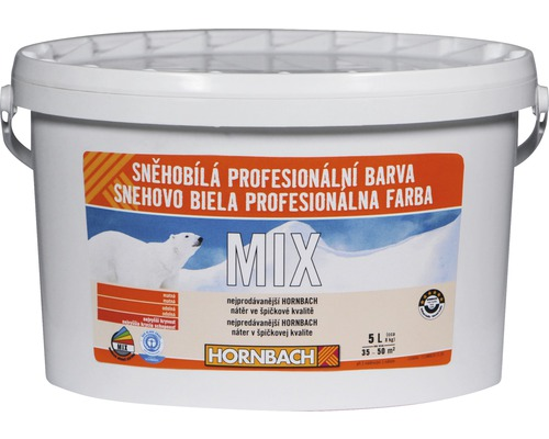 Snehobiela profesionálna farba Hornbach MIX, báza B 5l
