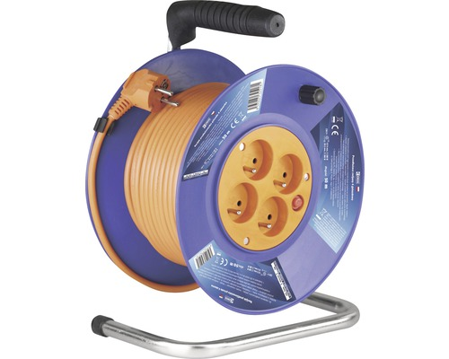 Predlžovací kábel na bubne EMOS 4 zásuvky H05VV-F3G /50 m
