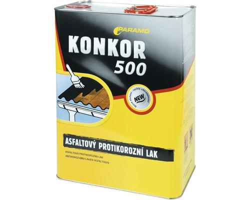 Asfaltový antikorózny lak Paramo Konkor 500, 9 kg