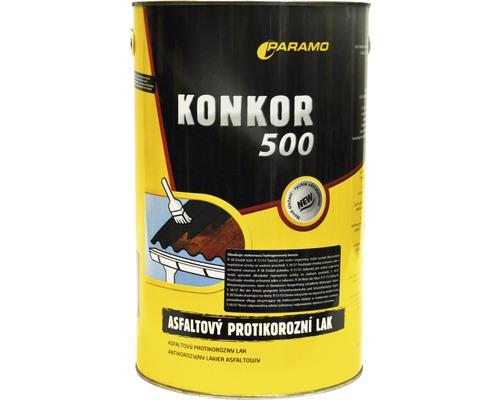 Asfaltový antikorózny lak Paramo Konkor 500, 3,5 kg